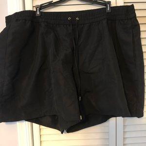 Lane Bryant 22/24 black swim shorts